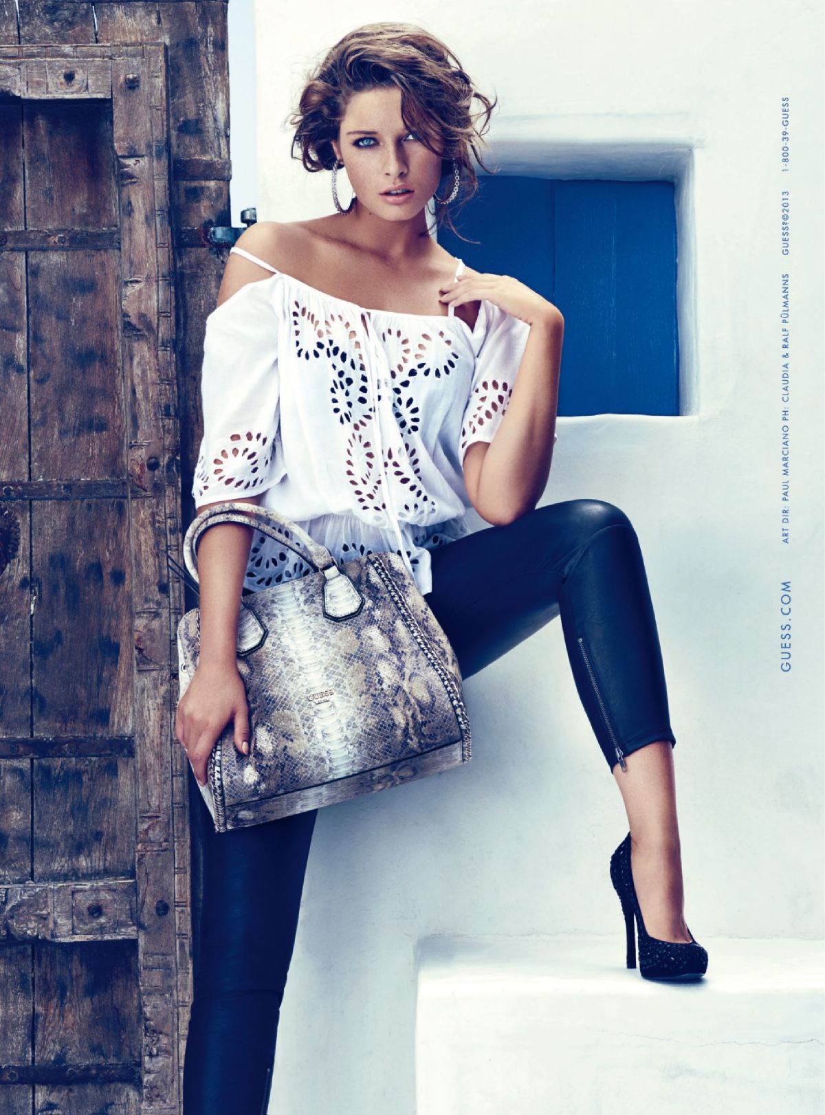 b834d8ae8e Sandrah Hellberg At Guess Accessories Ad Campaign Fall Winter 2013 ...