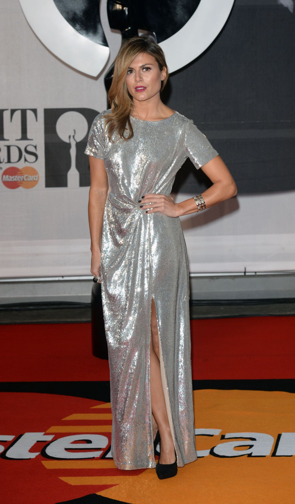 Zoe Hardman At The BRIT Awards 2014 At The 02 Arena In London