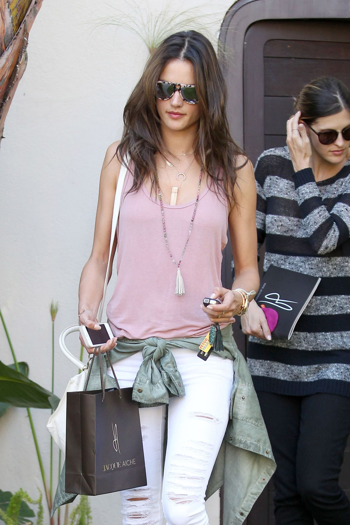 Alessandra Ambrosio Seen Shopping In Beverly Hills