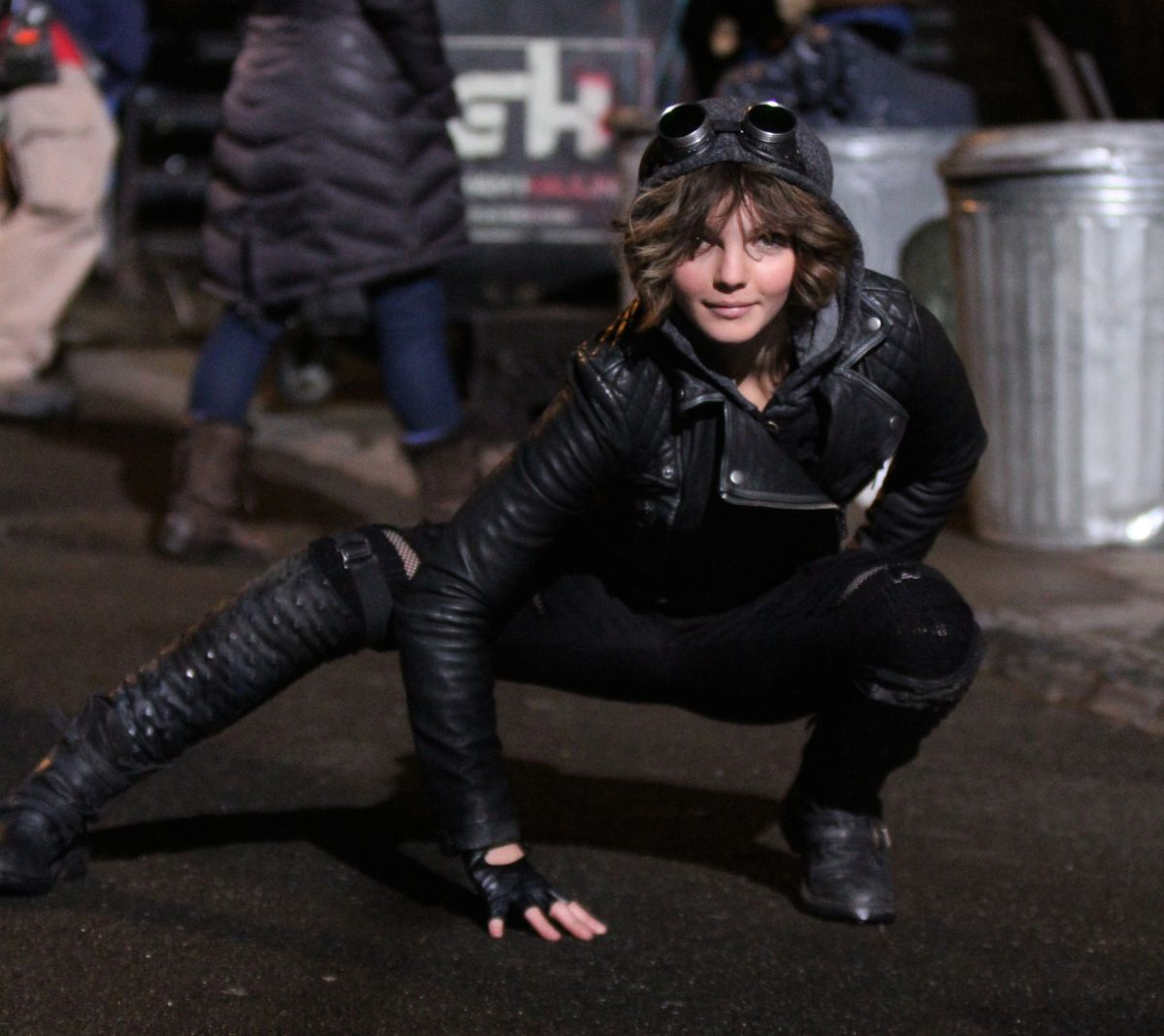 Camren bicondova on the set of the gotham tv series in downtown
