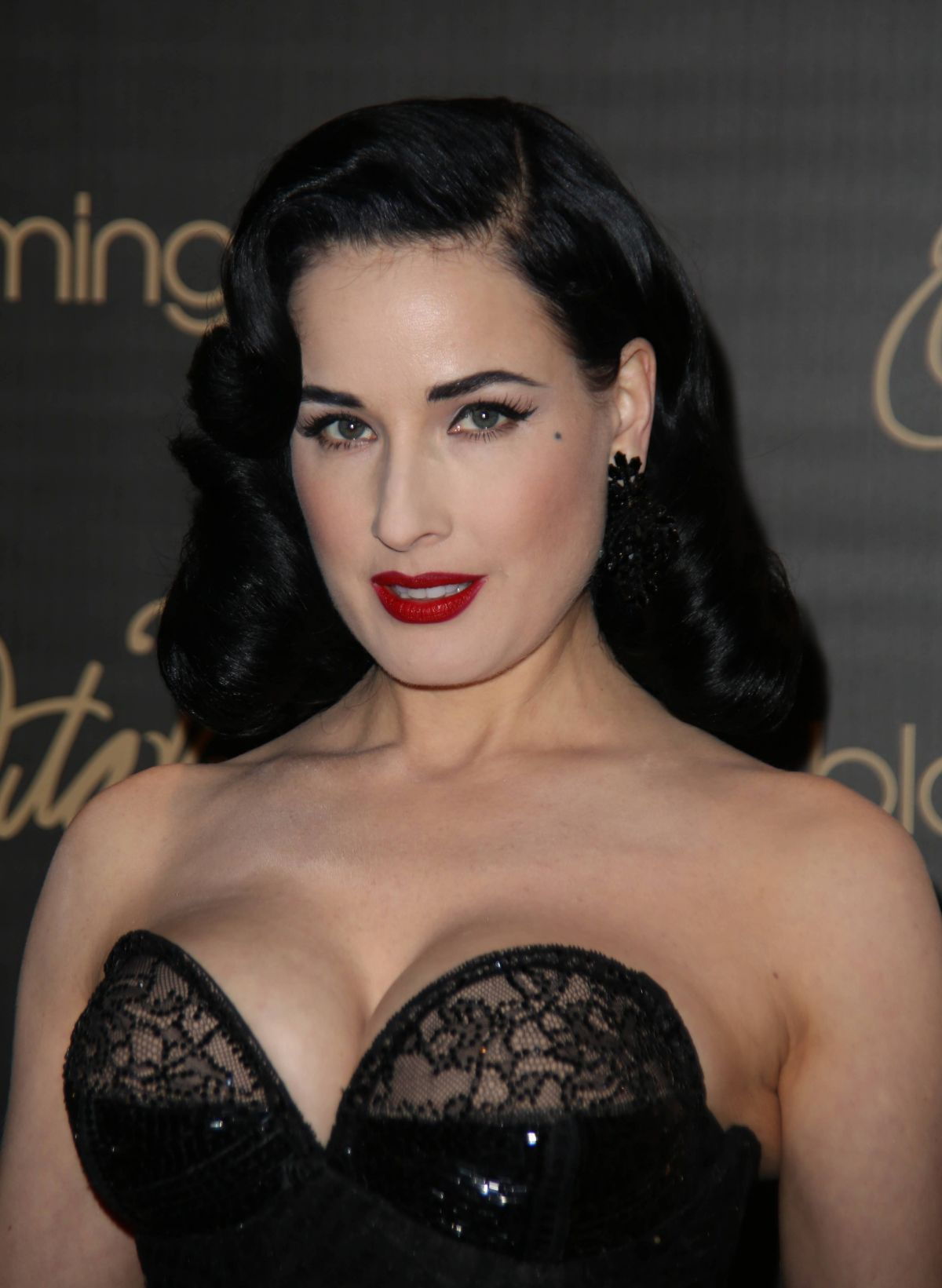dita von teese launching her lingerie line at bloomingdales nyc celebzz. Black Bedroom Furniture Sets. Home Design Ideas