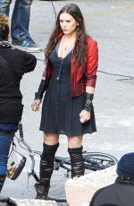 Elizabeth Olsen At Avengers 2: Age Of Ultron Set In Italy