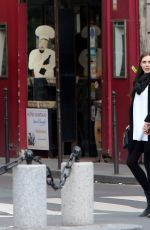 Elizabeth Olsen Out In Paris