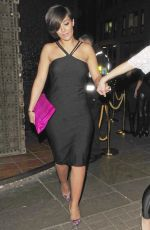 Frankie Sandford Leaving Chakana Nightclub In London