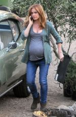 "Isla Fisher On The Set Of ""Visions"" In LA"