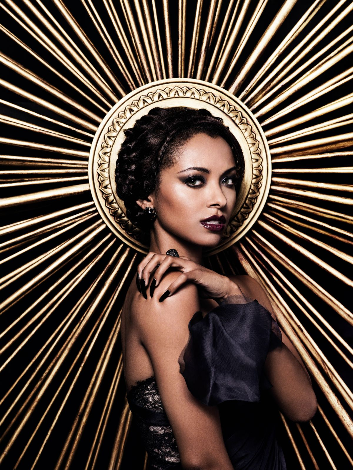 kat graham at the vampire diaries season 4 celebzz