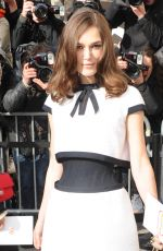 Keira Knightley At Chanel Collection Fashion Show