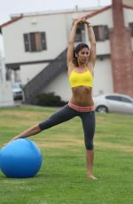 Leilani Dowding At Staged Park Work Out Session In LA