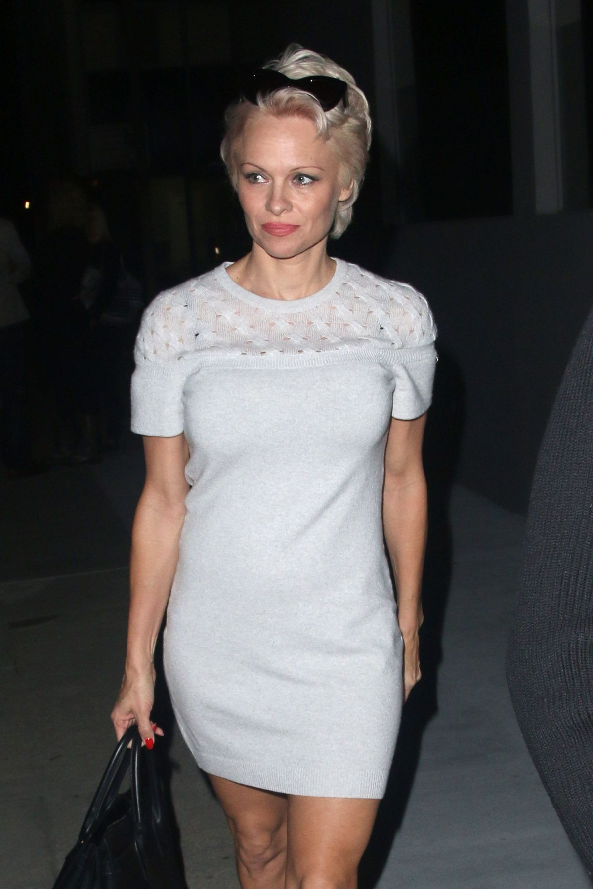 Pamela Anderson Arriving To Crossroads In West Hollywood