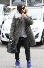 The Saturdays Arriving At A London Dance Rehearsal Studio