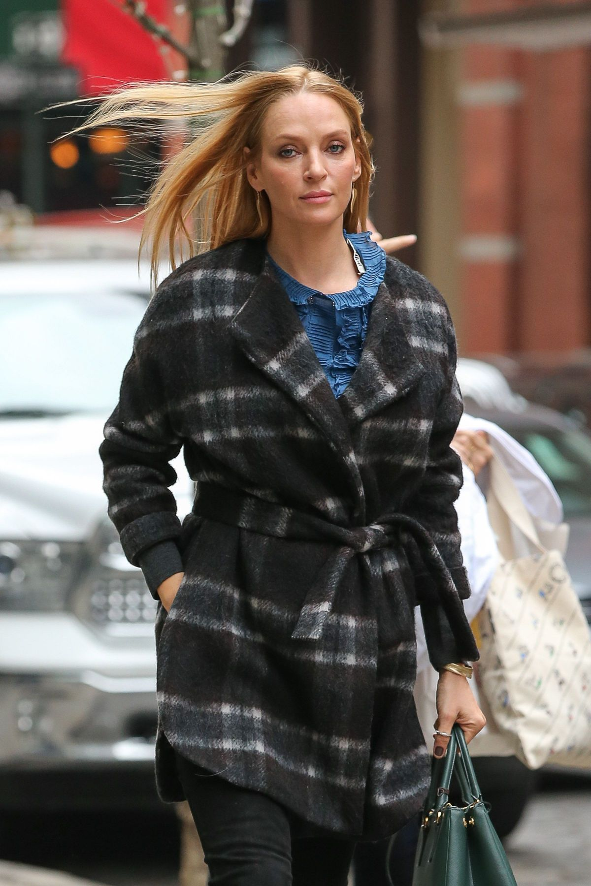 Uma Thurman Steps Out In NYC