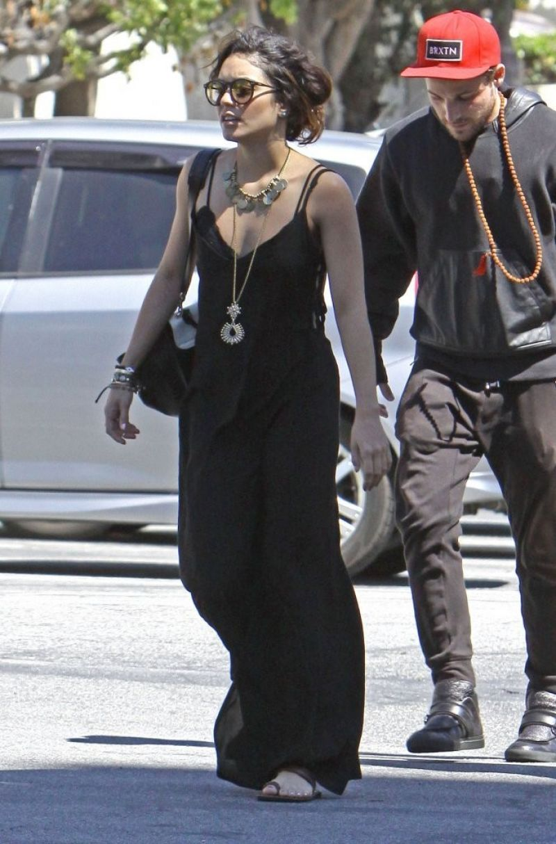 Vanessa Hudgens Goes To Church In Hollywood