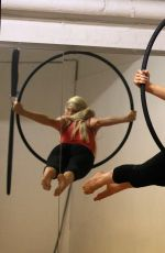 Nicola McLean On A Trapeze