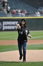 Aly Raisman At Chicago White Sox Basbeall Game
