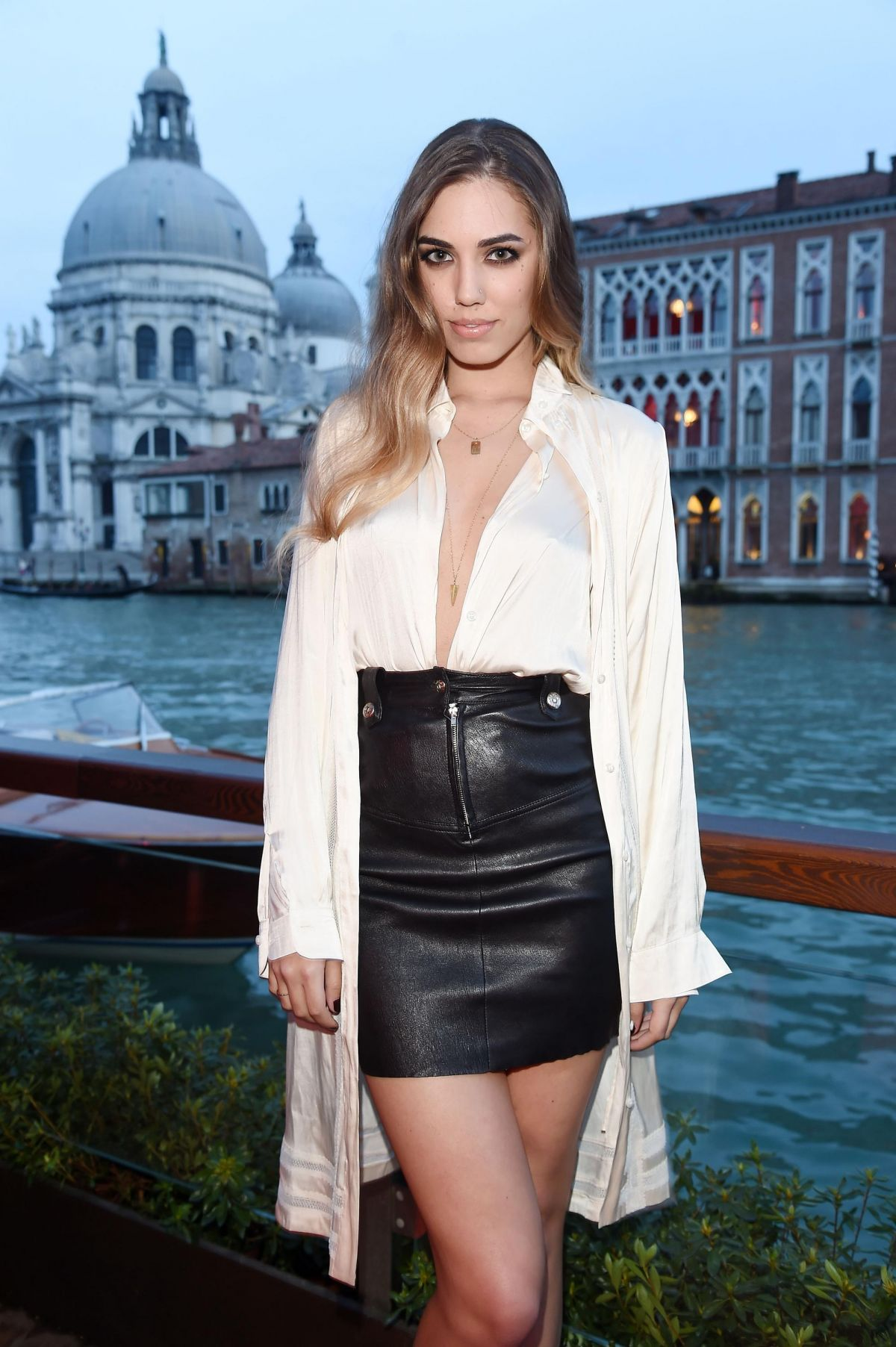 Amber Le Bon At Diesel FW14 Collection Presentation In Venice
