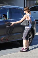 Ashley Greene Booty In Tights At A Gym In West Hollywood
