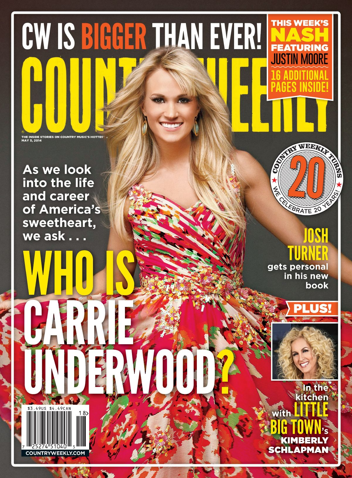 Carrie Underwood At Country Weekly May 2014