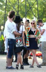 Dianna Agron Out And About At Coachella