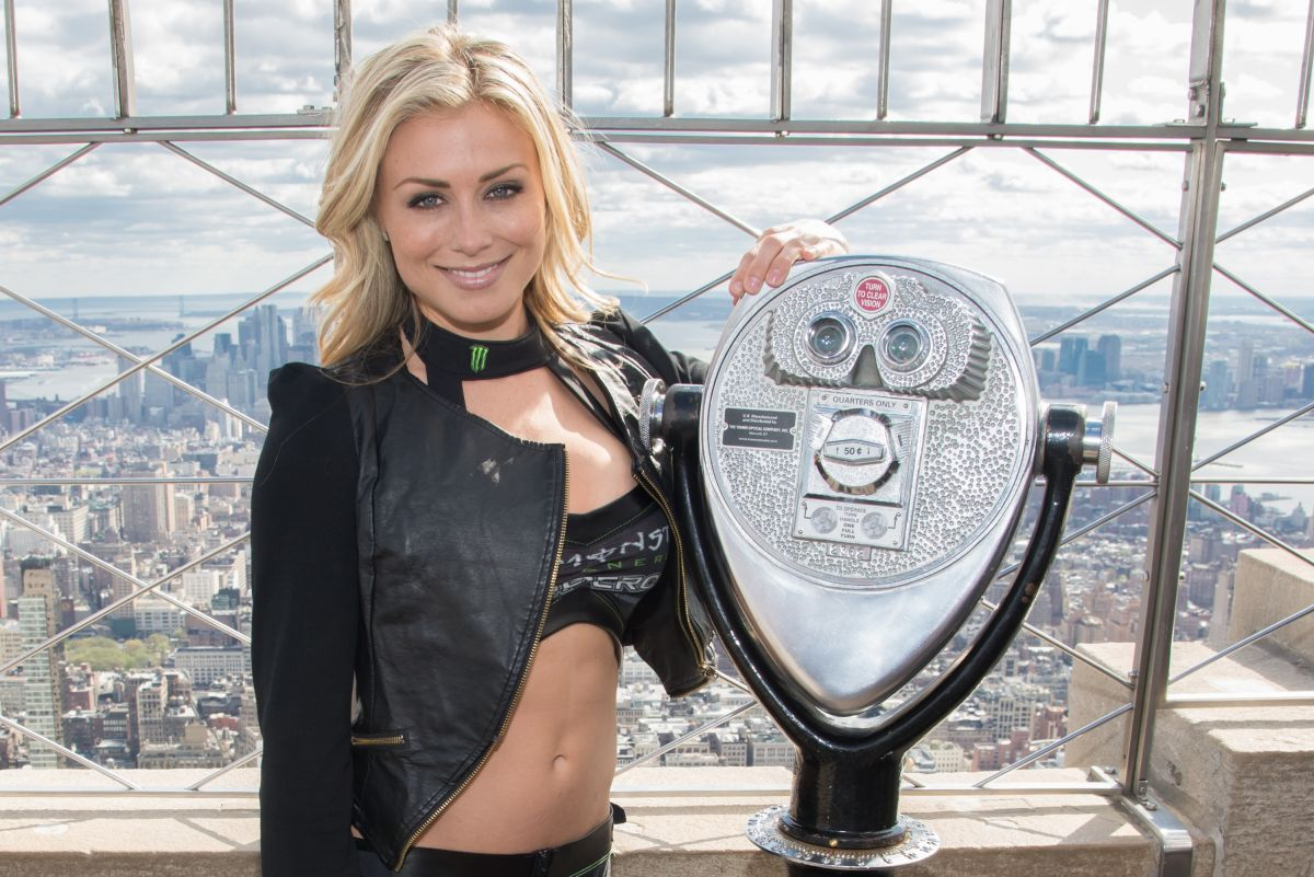 Dianna Dahlgren At AMA Supercross Stars Visit The Empire State Building
