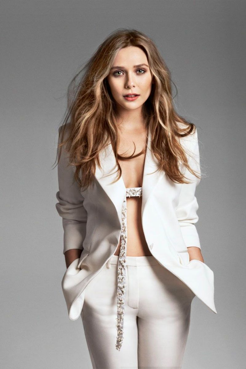 Elizabeth Olsen At Marie Claire Magazine May 2014