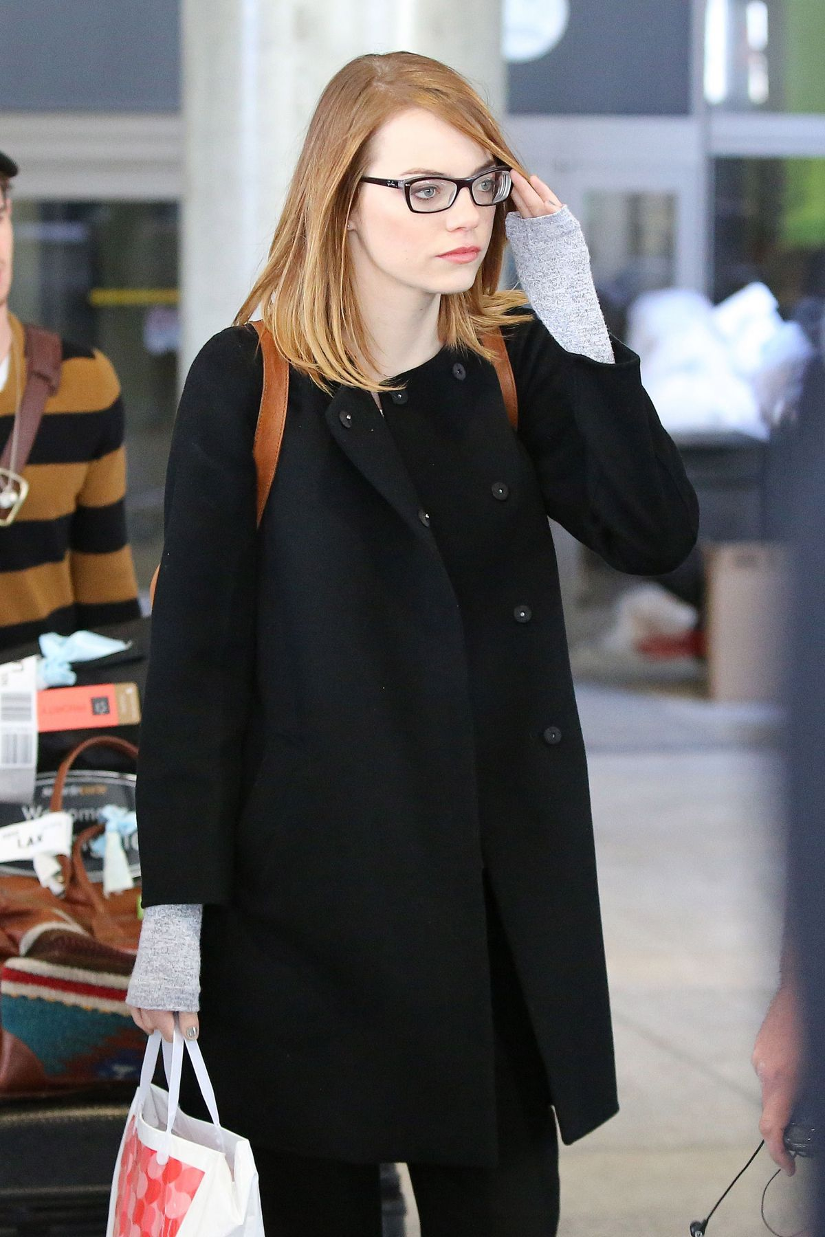 Emma Stone At LAX Airport In Los Angeles
