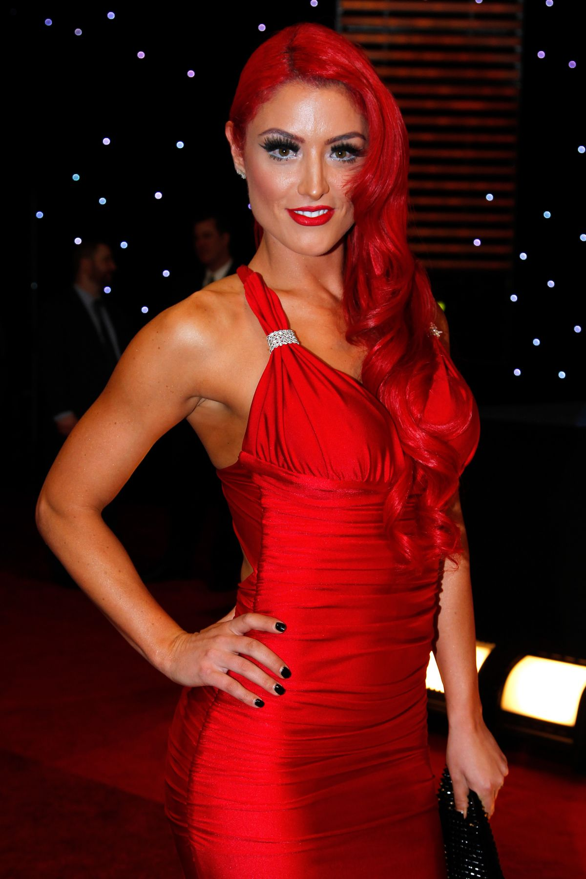 Eva Marie/Natalie Nelson At WWE Hall of Fame Induction Ceremony