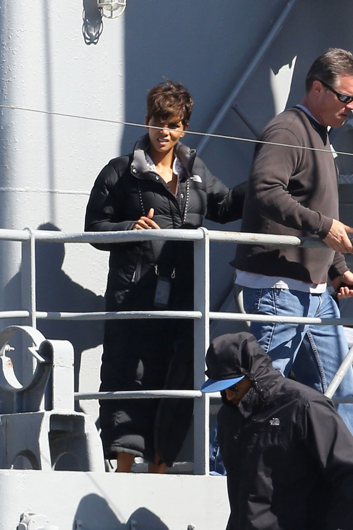 Halle Berry  On The Set Of