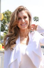 Katherine Webb On The Set Of Extra In LA