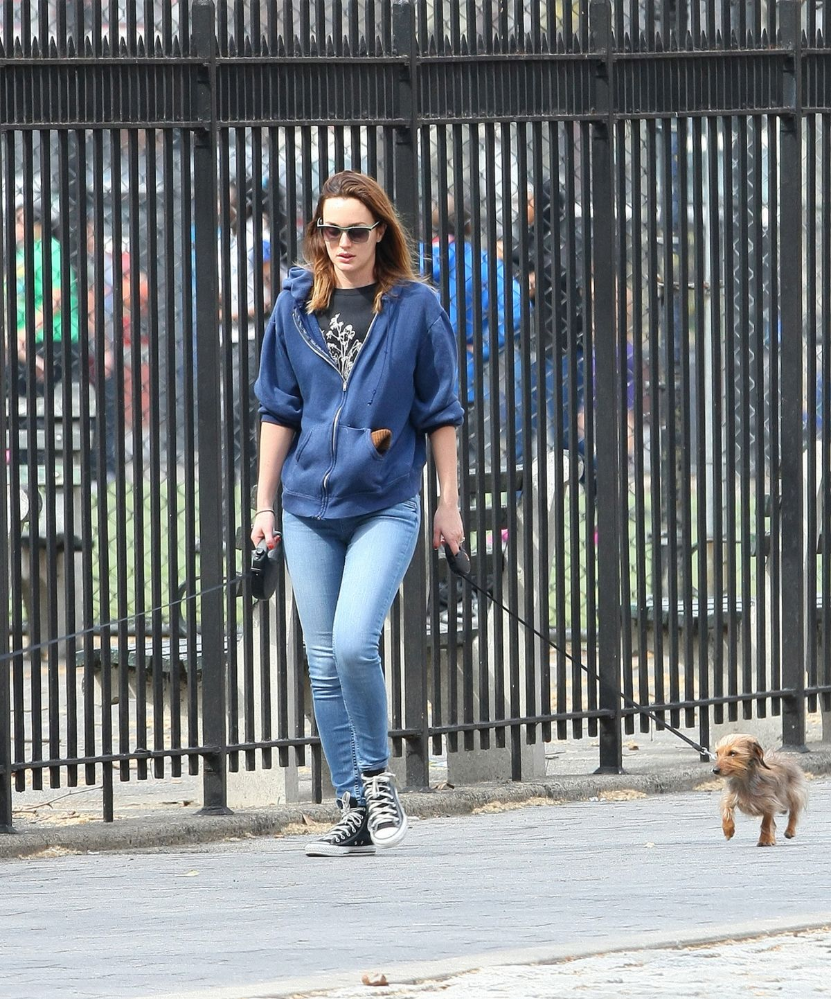 Leighton Meester Out In NYC