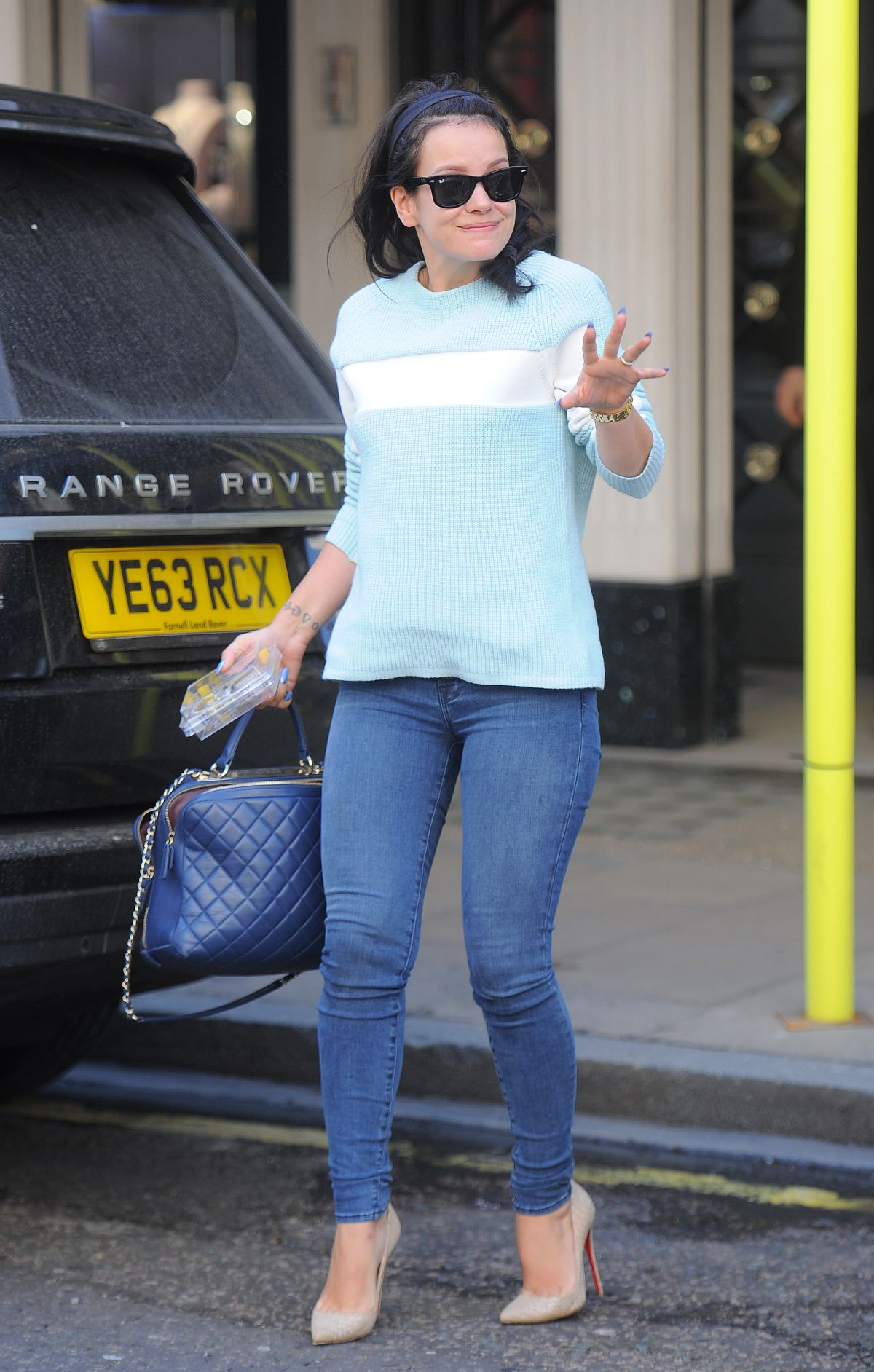 Lily Allen Shopping In London