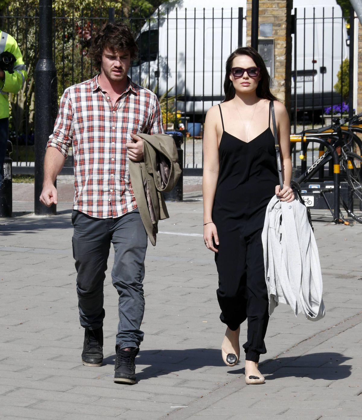 Margot Robbie Out With Her Brother In London
