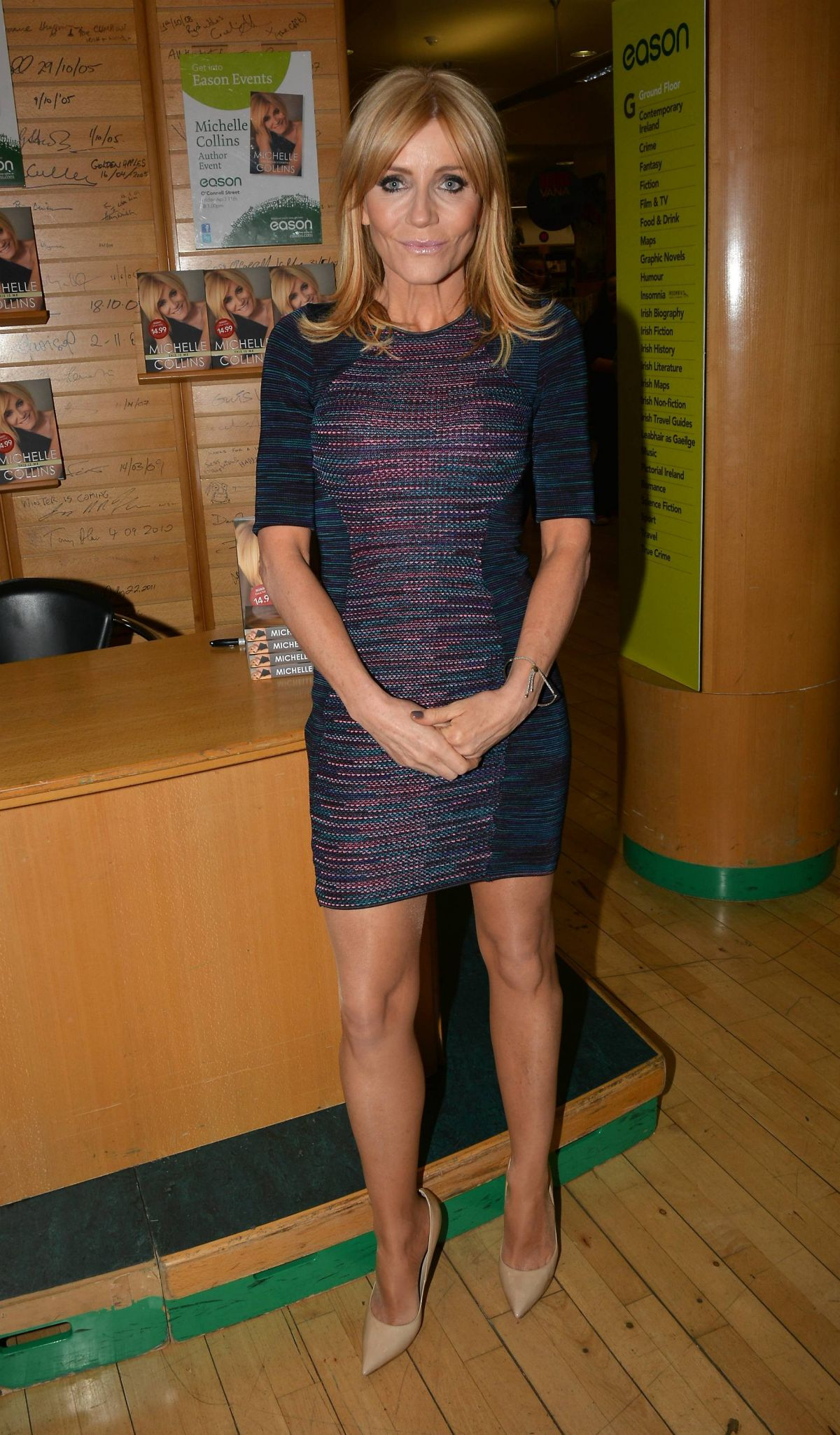Michelle collins at book signing in dublin celebzz celebzz