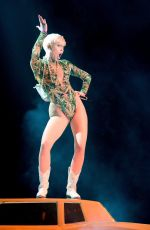 Miley Cyrus At Bangerz Tour At Barclays Center In Brooklyn