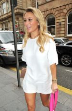 Alex Gerrard Arriving To Sheree Murphy Welcome Home Party