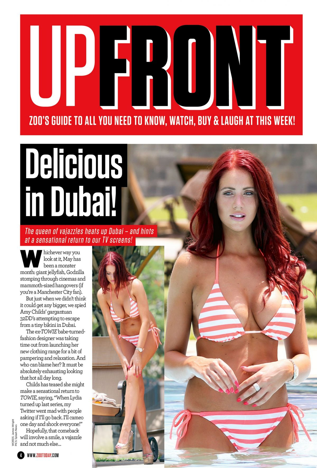 Amy Childs At Zoo UK May 2014