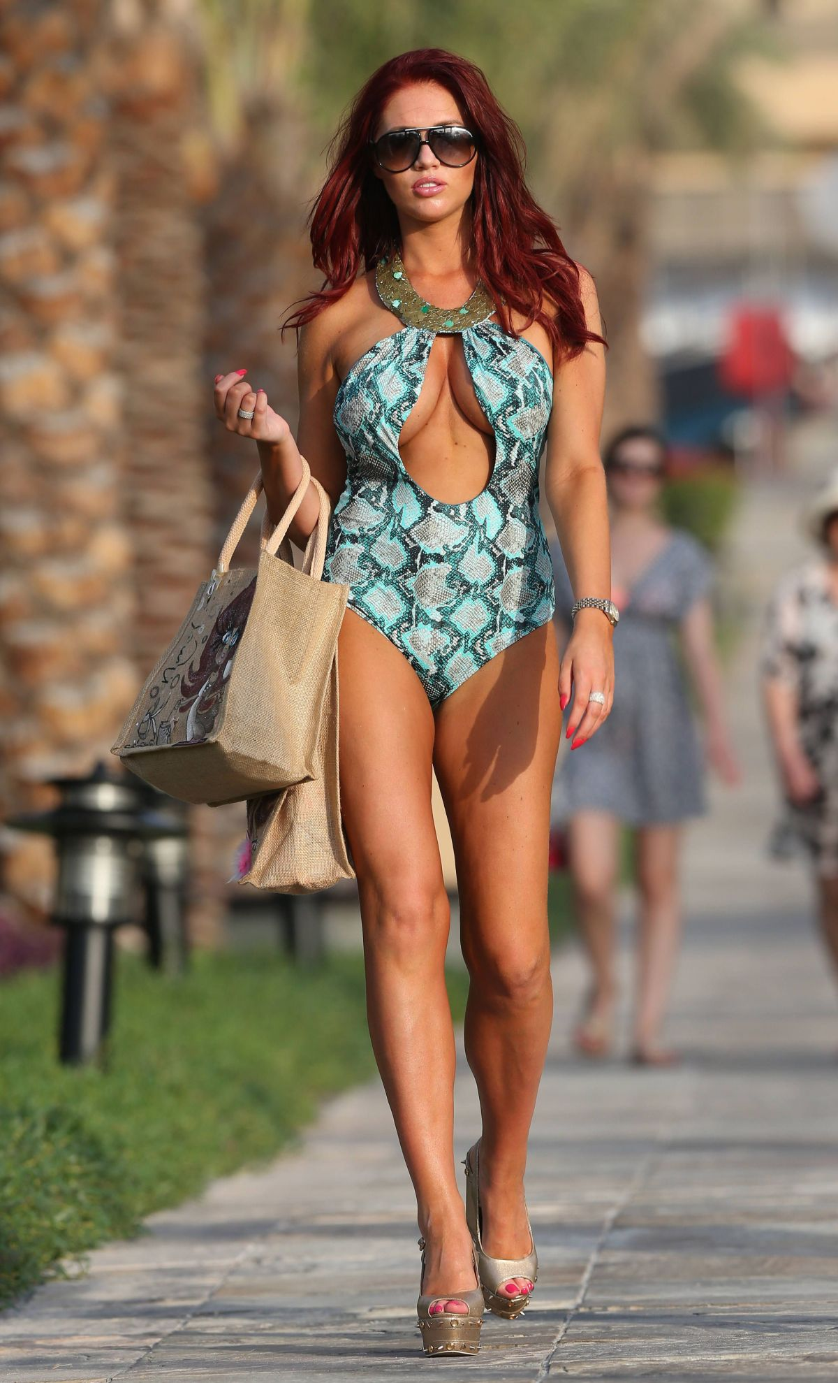 Amy Childs By The Pool At UAE