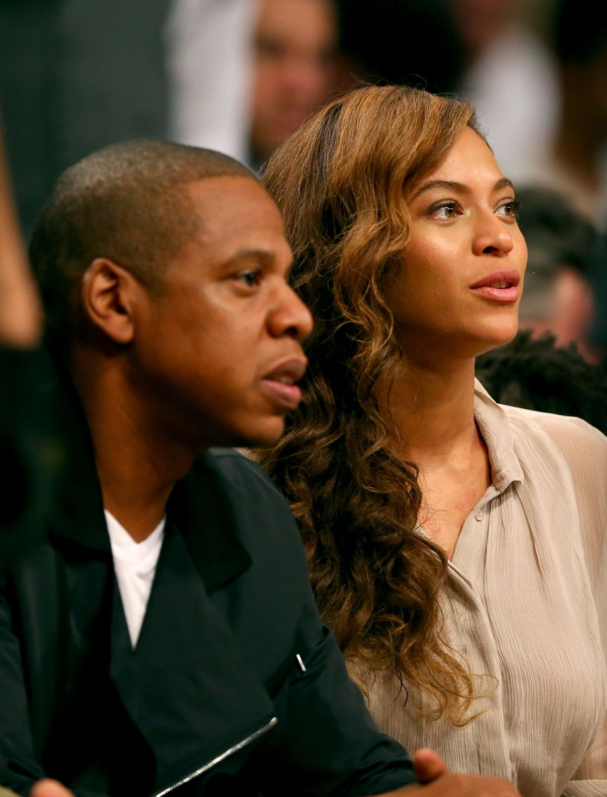 Beyonce Knowles At Brooklyn Nets Basketball Game