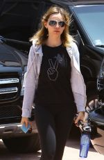 Calista Flockhart Going To A Gym In LA