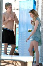 Diana Vickers Seen Poolside While In Spain