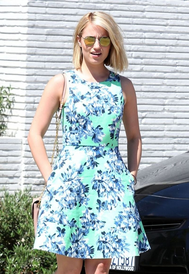 Dianna Agron At Gracias Madre In West Hollywood