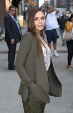 Elizabeth Olsen At The Late Show With David Letterman In NY
