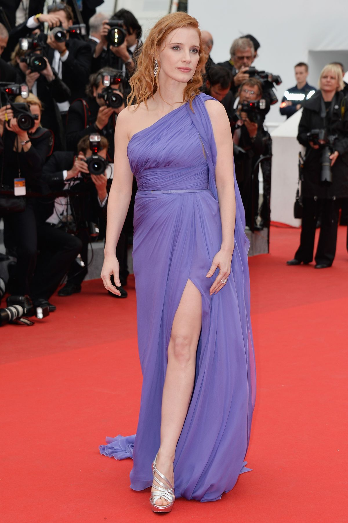 """Jessica Chastain At """"Foxcatcher"""" Premiere In Cannes"""