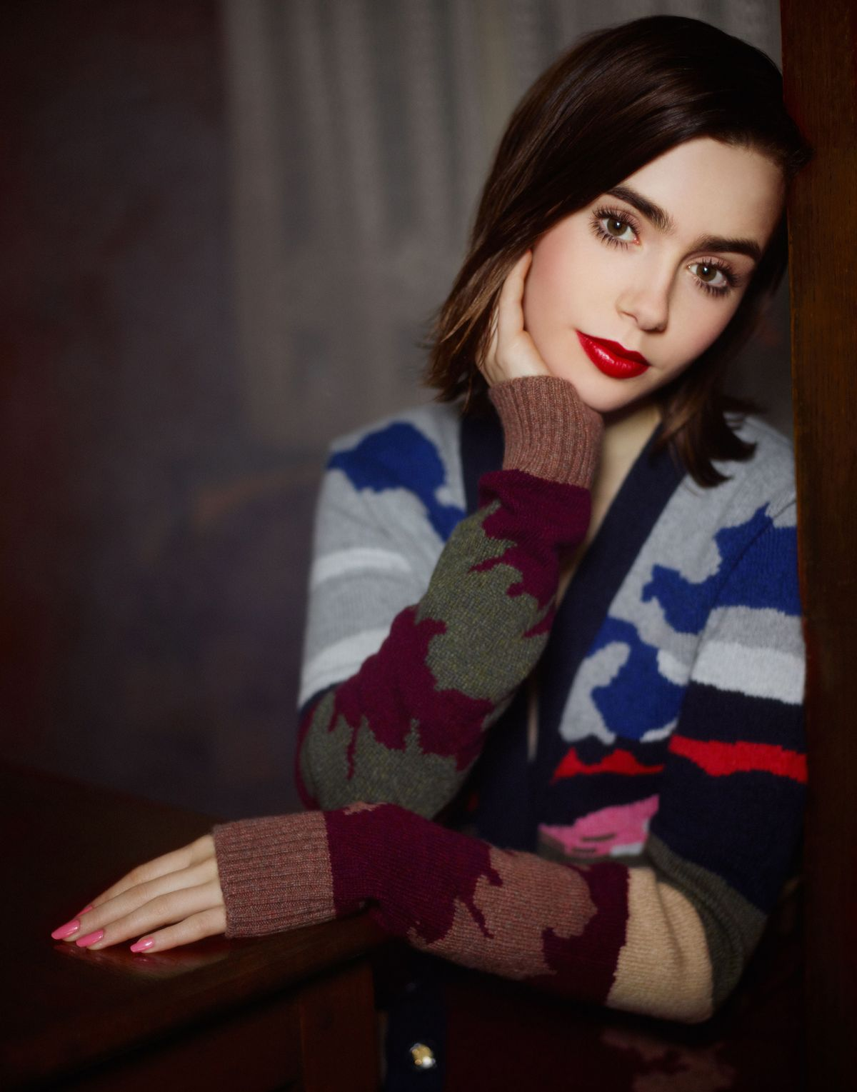 Lily Collins At Barrie Fall-Winter 2014 Campaign By Karl ...