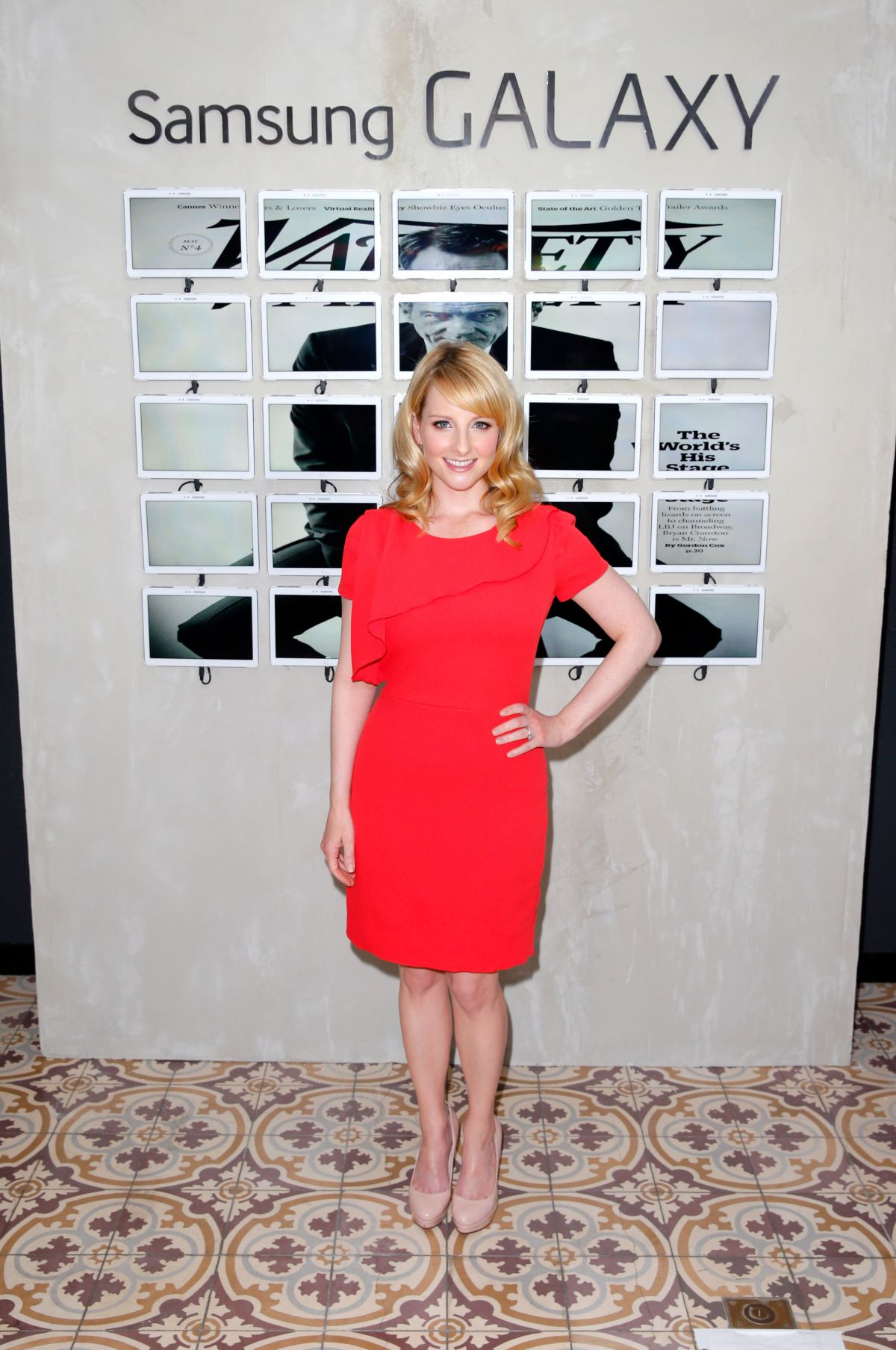 melissa rauch at variety studio in west hollywood celebzz. Black Bedroom Furniture Sets. Home Design Ideas