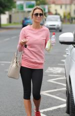 Alex Gerrard Seen Leaving The Gym In Liverpool