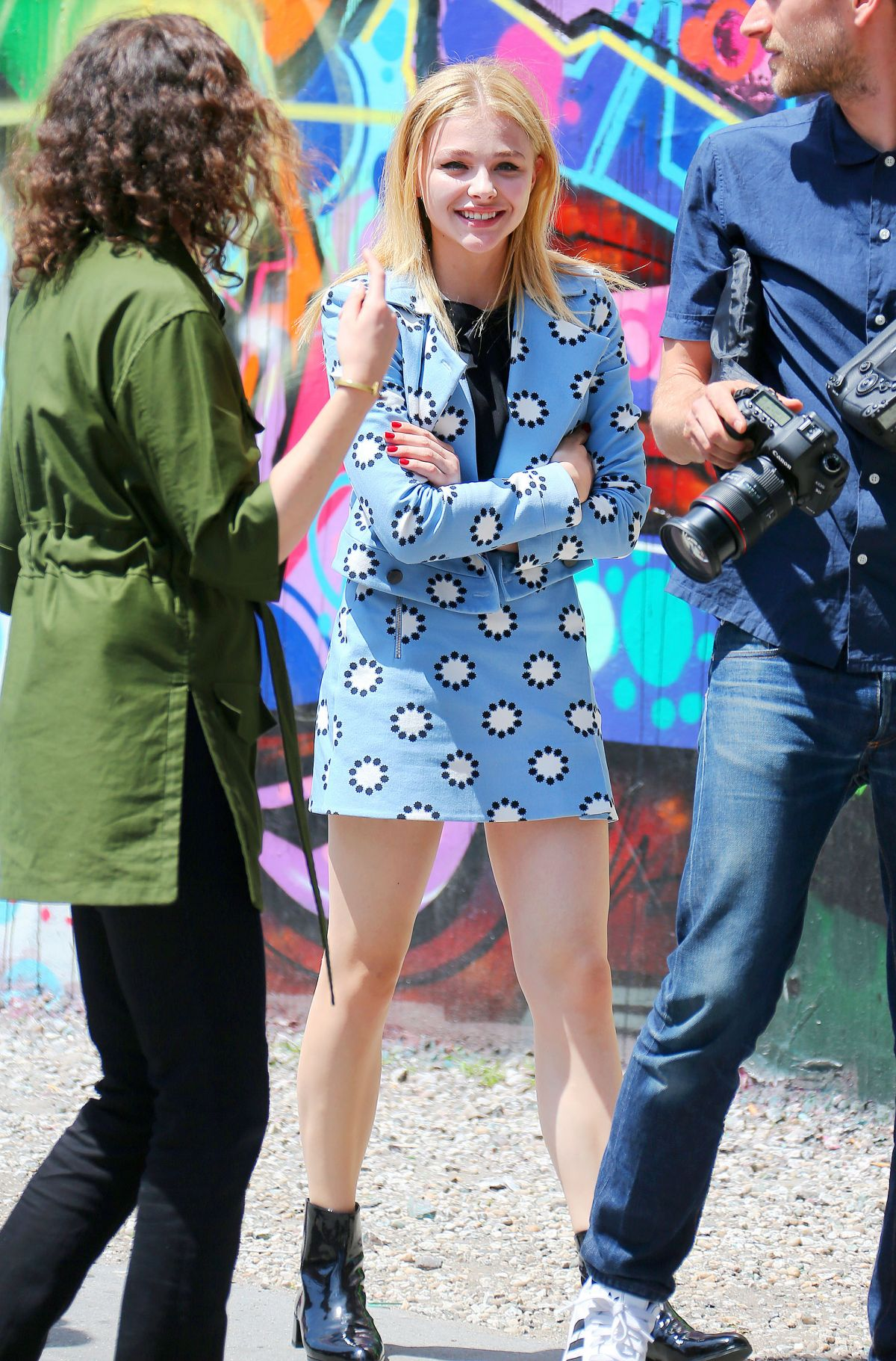 Chloe Moretz On A Photoshoot In NYC