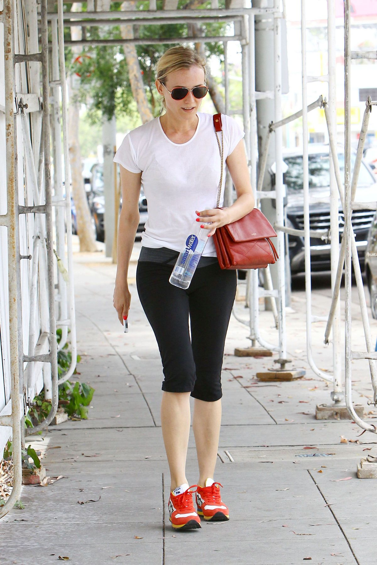 Diane Kruger Heads To Her Car Following A Morning Workout ...