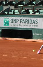 Donna Vekic At A Training Session At French Open