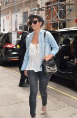 Frankie Sandford Outside The BBC Radio 1 Studios