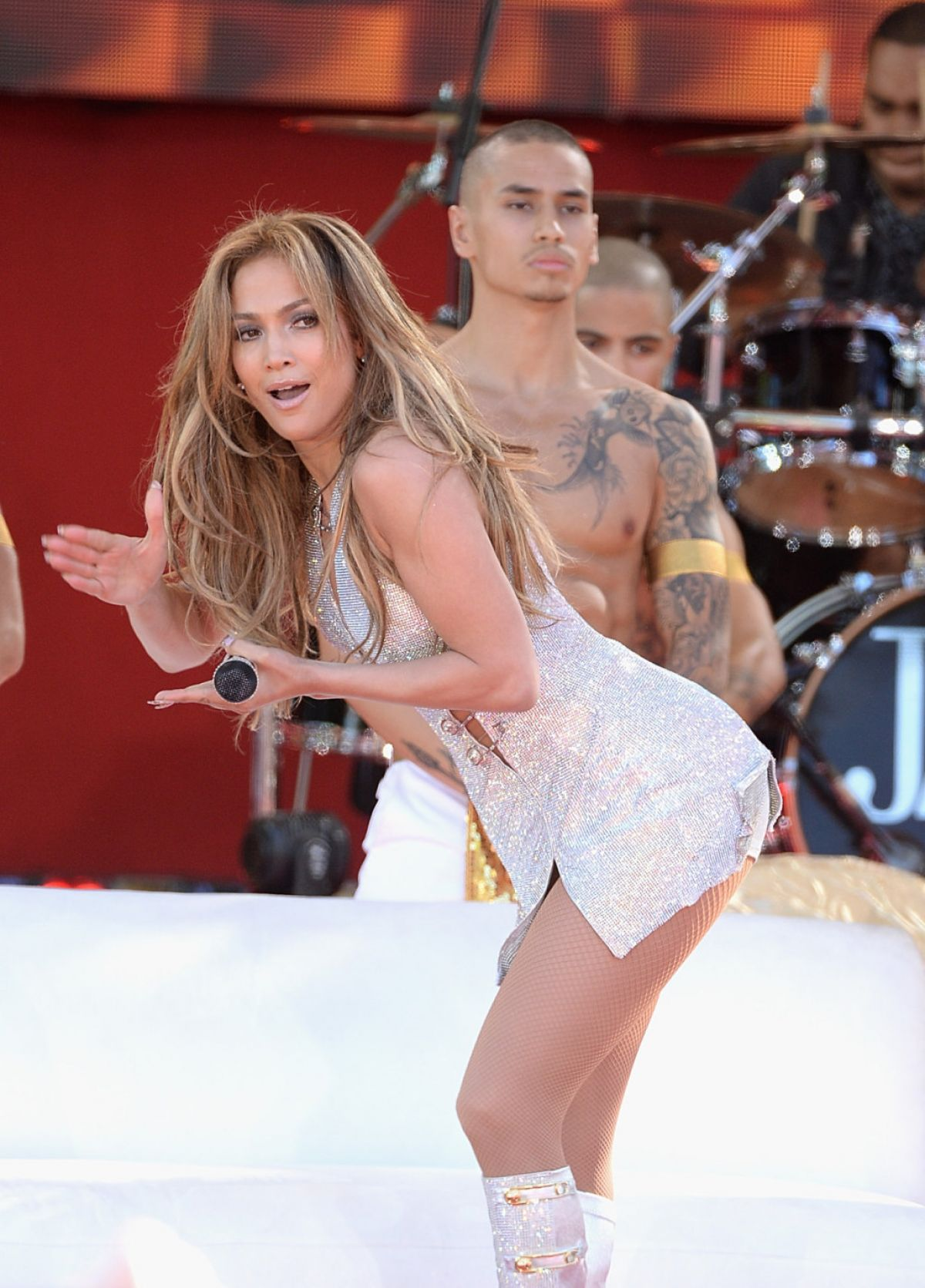 Jennifer Lopez Performing On Good Morning America In New York